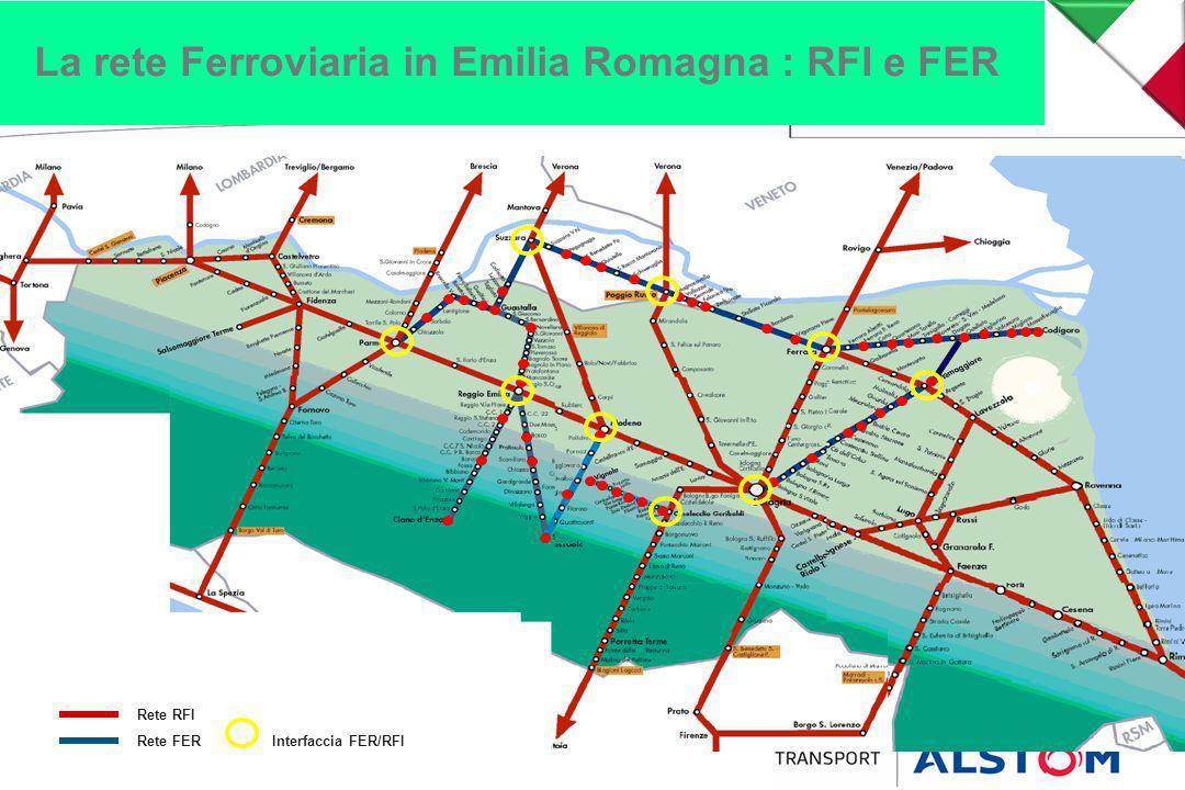 La rete Ferroviaria in Emilia Romagna : RFI e FER