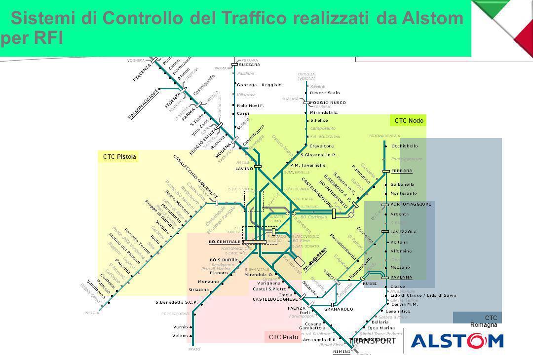 Sistemi di Controllo del Traffico realizzati da Alstom per RFI