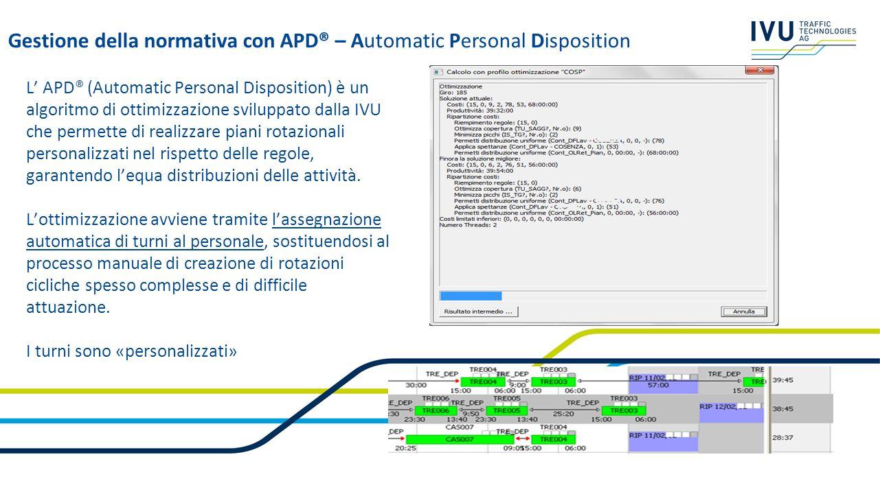 Gestione della normativa con APD® – Automatic Personal Disposition