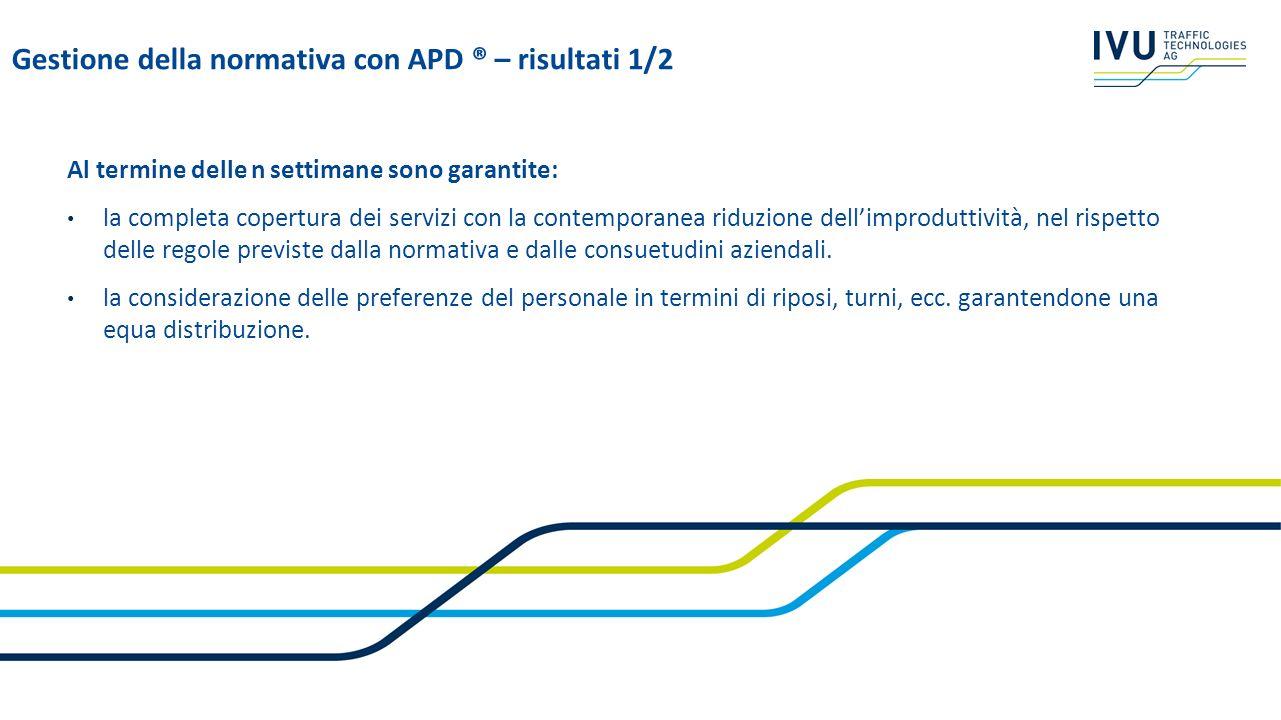 Gestione della normativa con APD ® – risultati 1/2