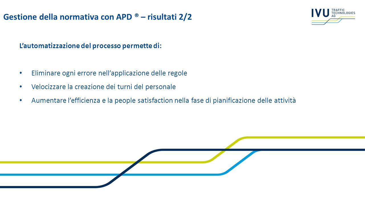 Gestione della normativa con APD ® – risultati 2/2