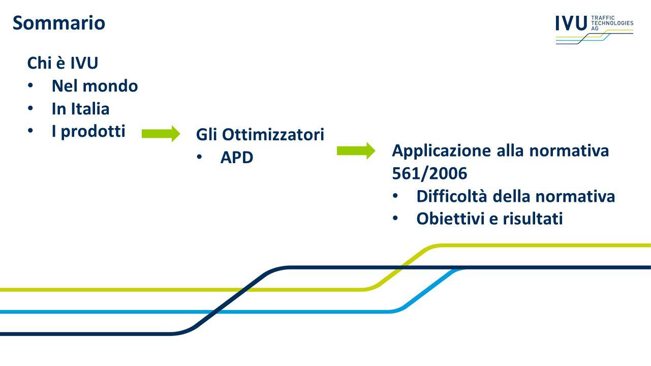 Sommario Chi è IVU Nel mondo In Italia I prodotti Gli Ottimizzatori