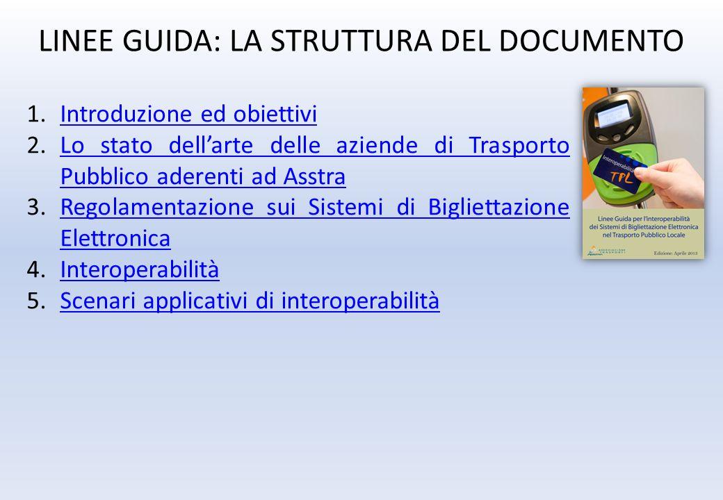 LINEE GUIDA: LA STRUTTURA DEL DOCUMENTO