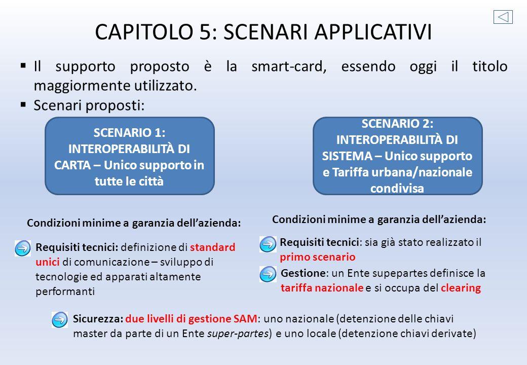 CAPITOLO 5: SCENARI APPLICATIVI