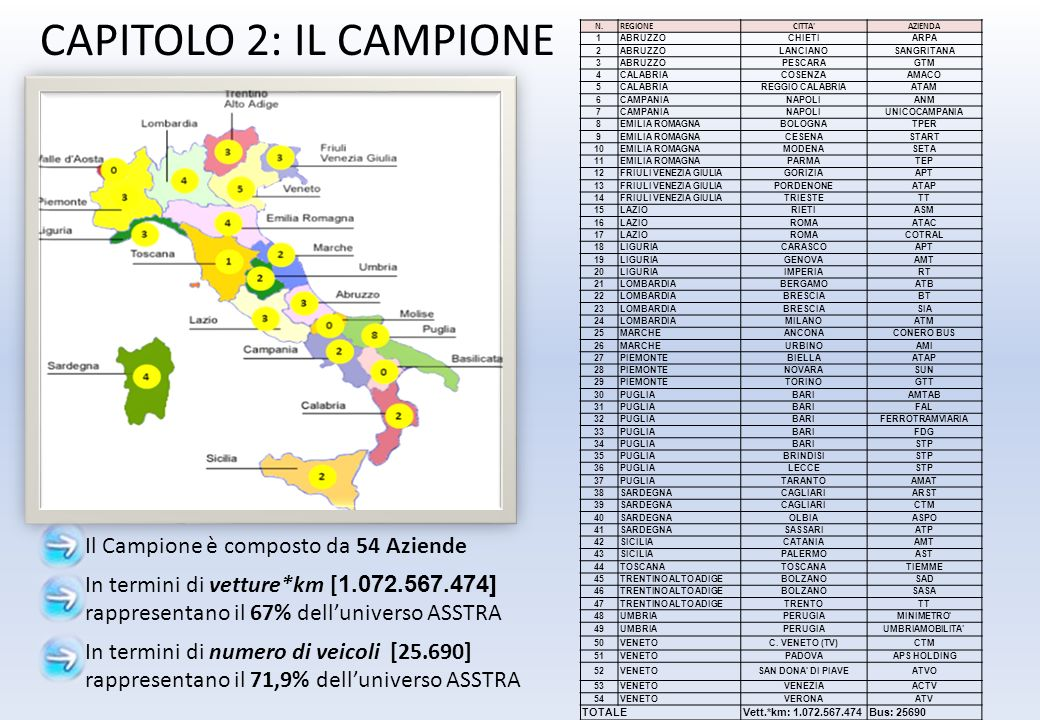 CAPITOLO 2: IL CAMPIONE Il Campione è composto da 54 Aziende