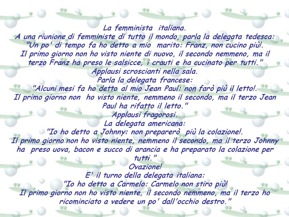 La femminista italiana