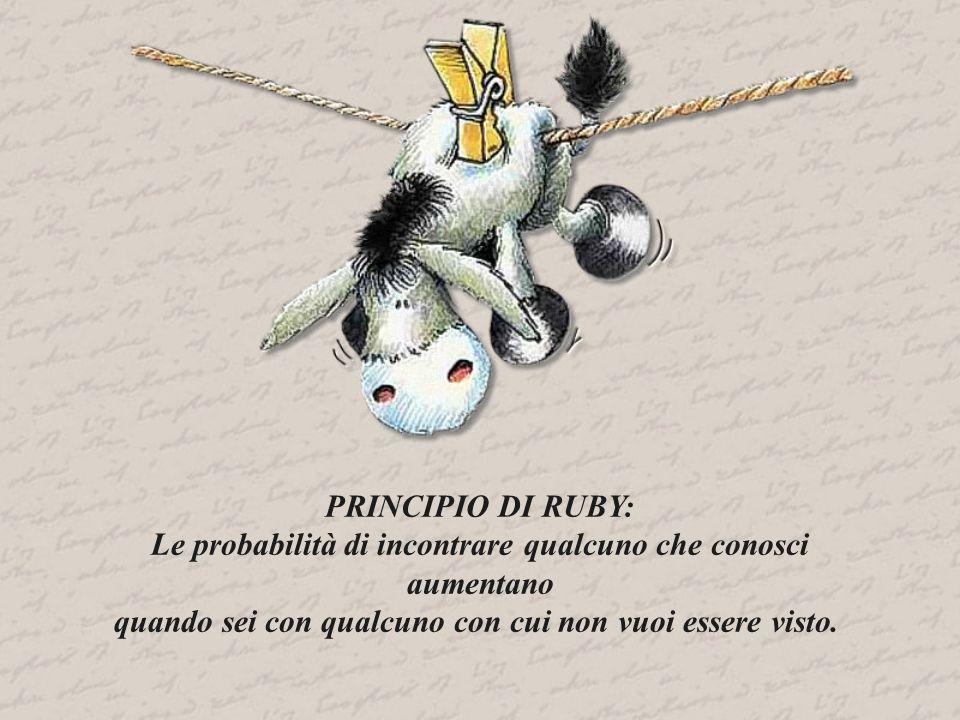 PRINCIPIO DI RUBY: Le probabilità di incontrare qualcuno che conosci