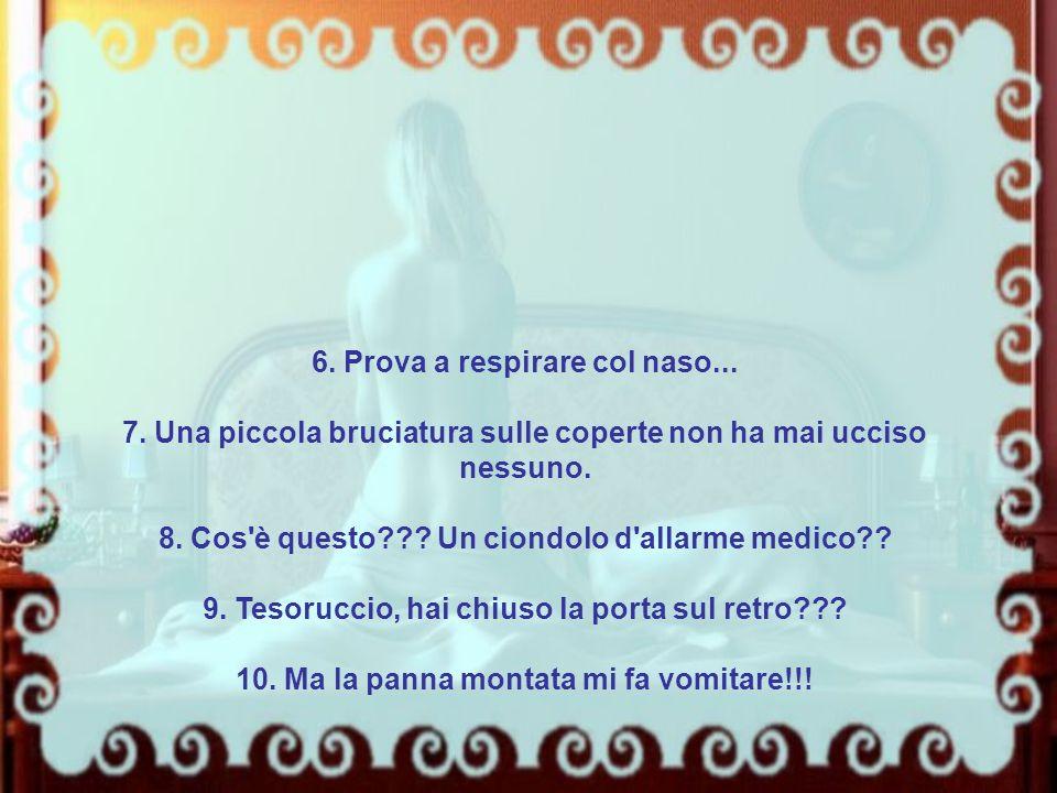 6. Prova a respirare col naso...