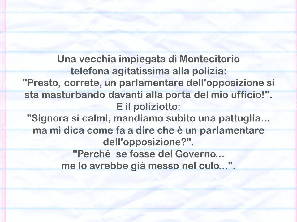 Una vecchia impiegata di Montecitorio
