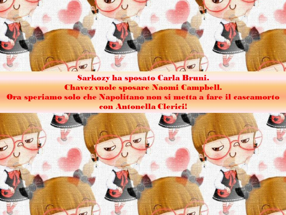 Sarkozy ha sposato Carla Bruni. Chavez vuole sposare Naomi Campbell