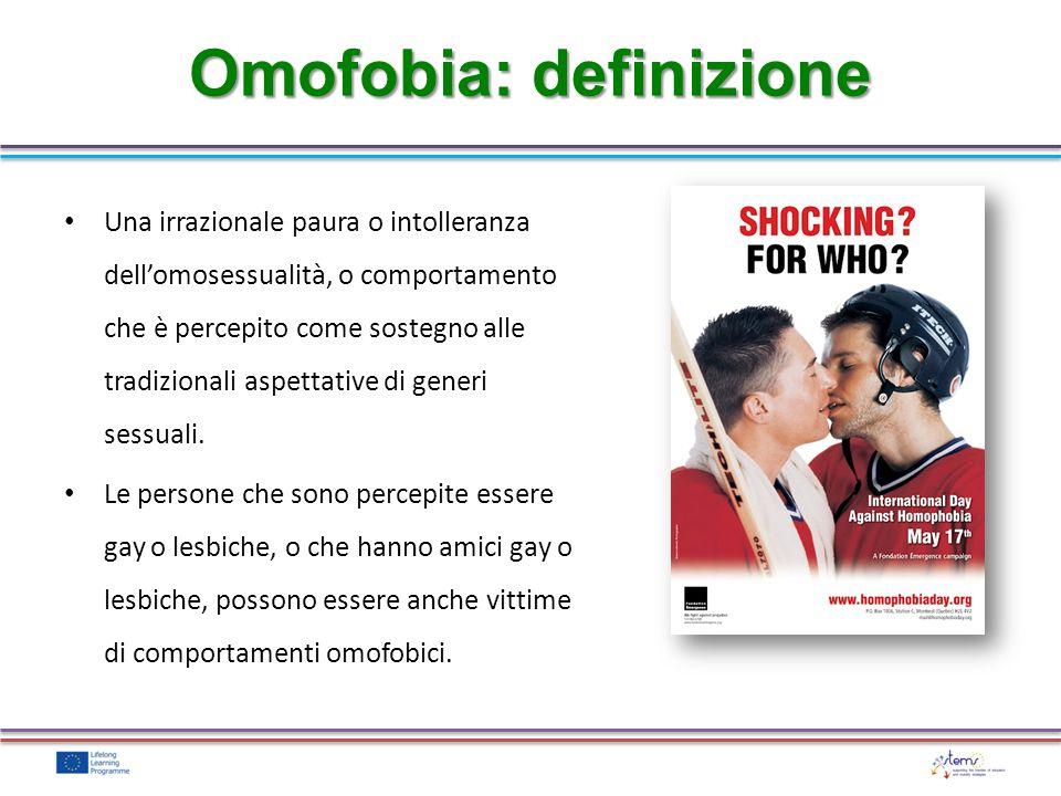 Omofobia: definizione