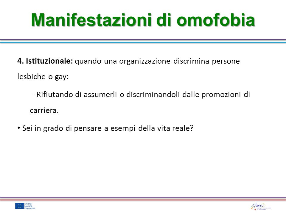Manifestazioni di omofobia