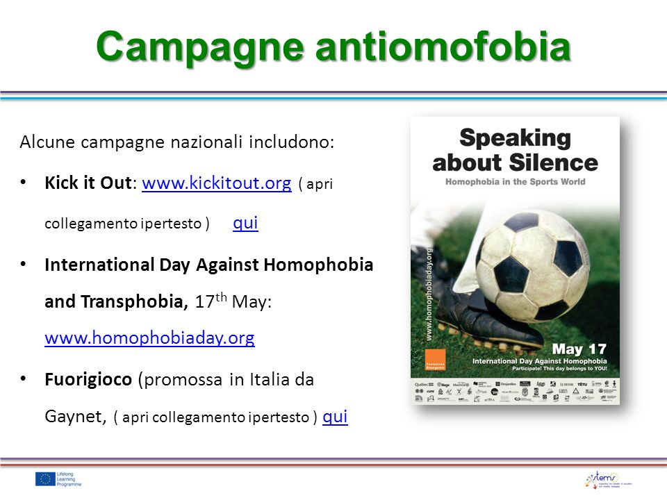 Campagne antiomofobia