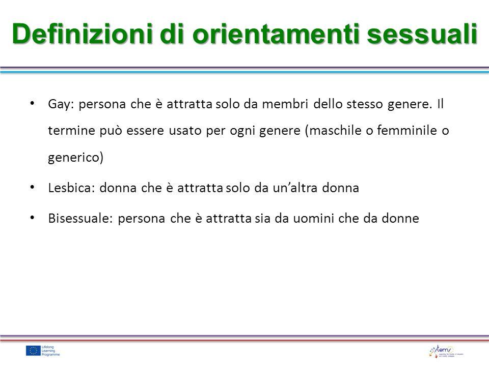 Definizioni di orientamenti sessuali