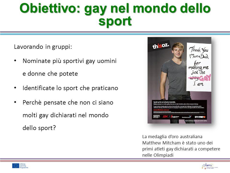Obiettivo: gay nel mondo dello sport
