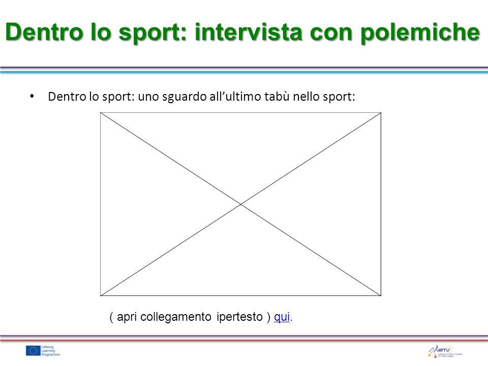 Dentro lo sport: intervista con polemiche