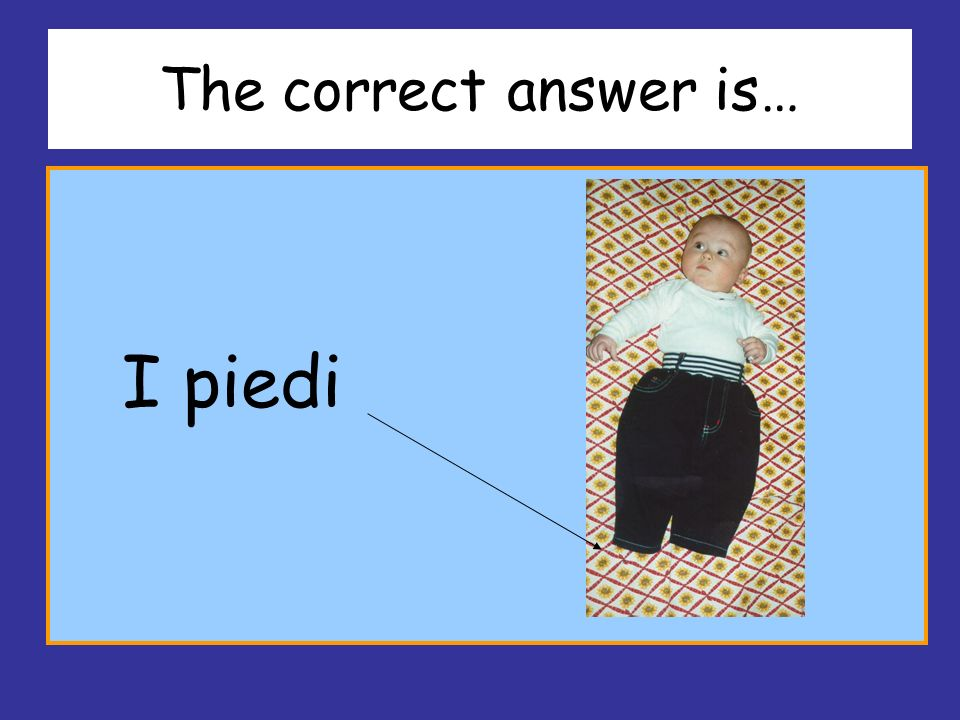 The correct answer is… I piedi