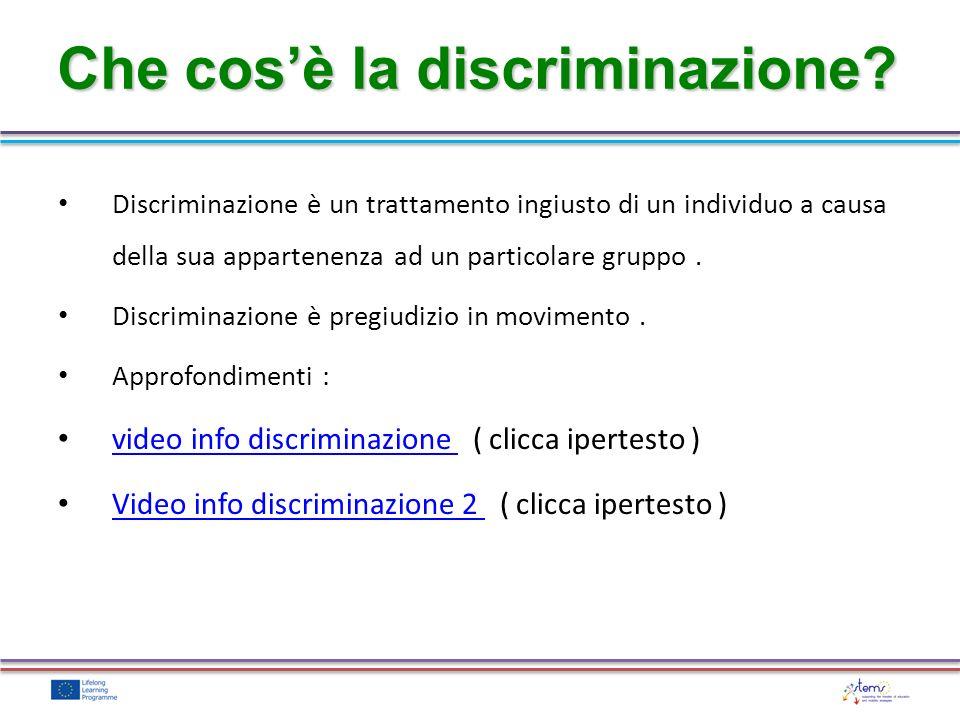 Che cos'è la discriminazione
