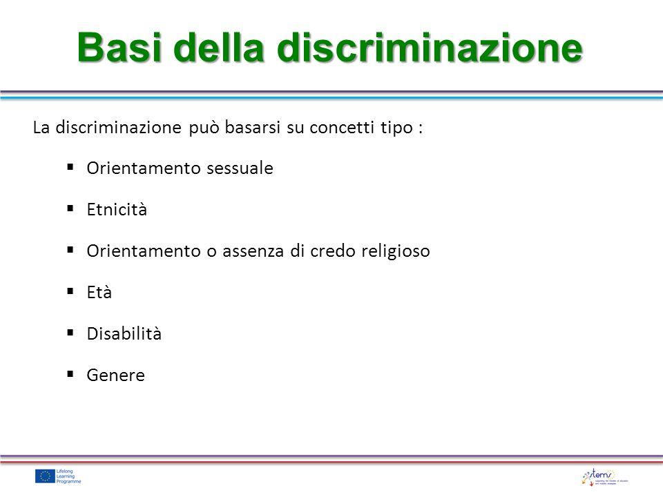 Basi della discriminazione