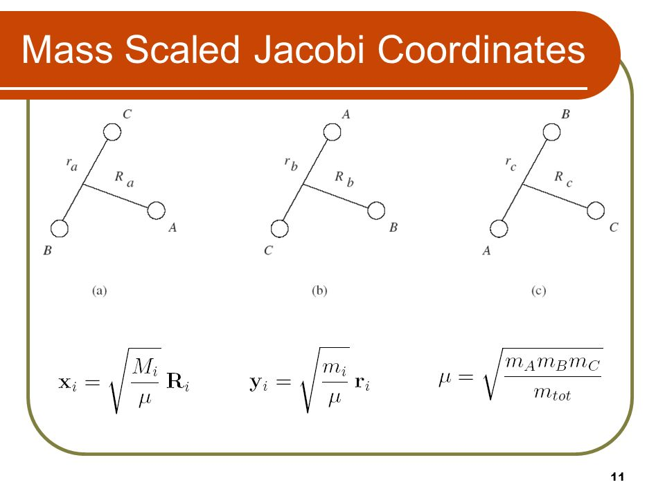 Mass Scaled Jacobi Coordinates