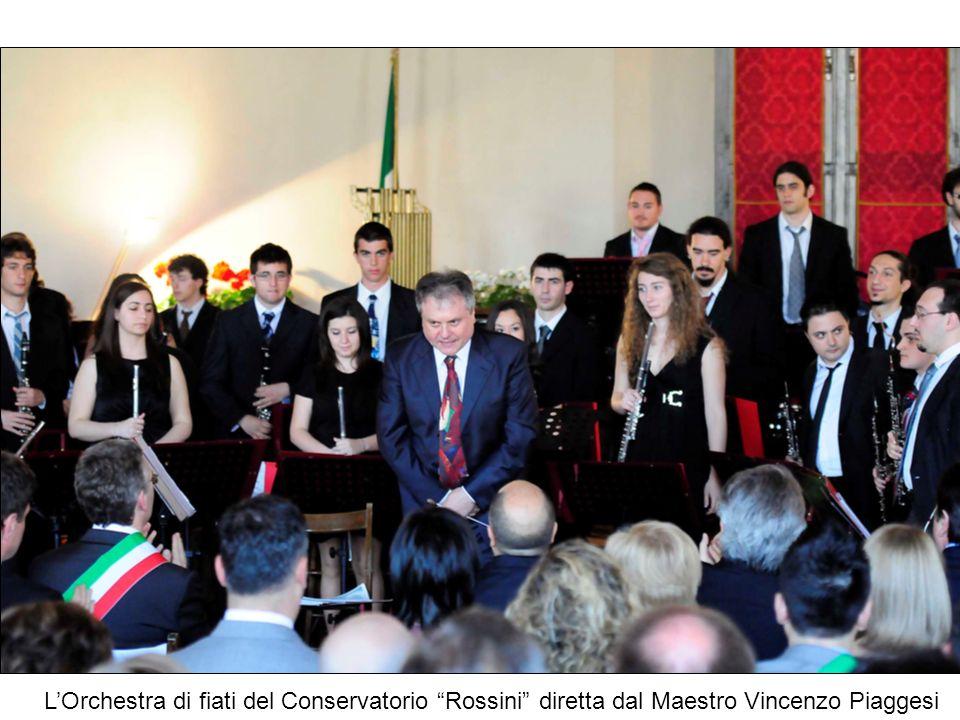 L'Orchestra di fiati del Conservatorio Rossini diretta dal Maestro Vincenzo Piaggesi