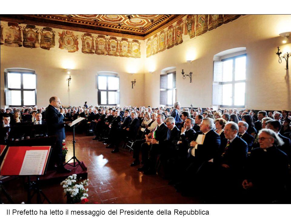 Il Prefetto ha letto il messaggio del Presidente della Repubblica