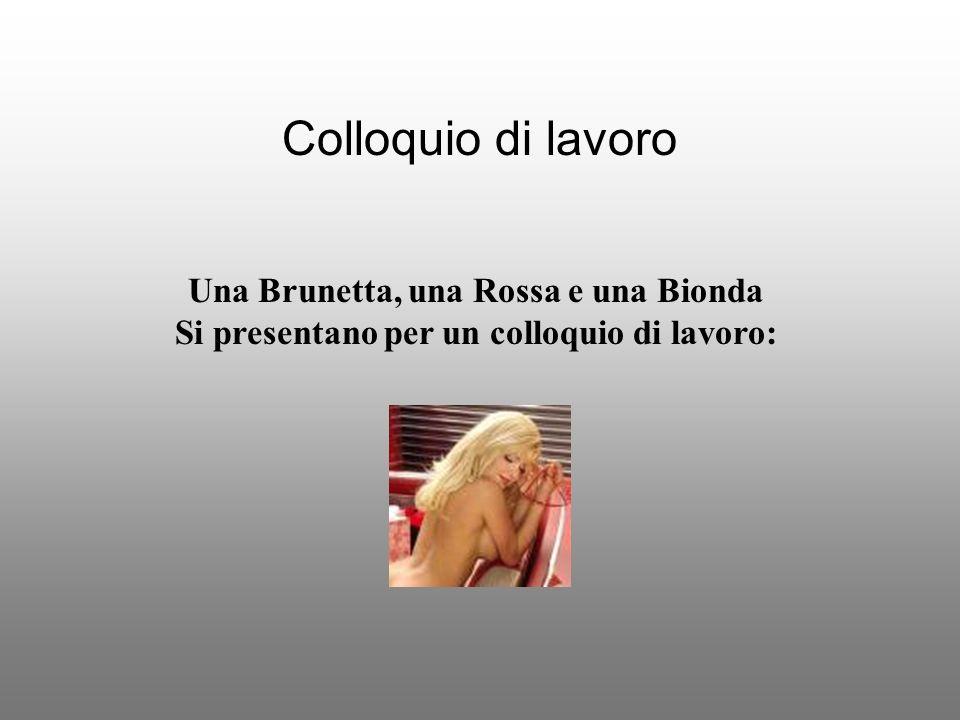 Colloquio di lavoro Una Brunetta, una Rossa e una Bionda