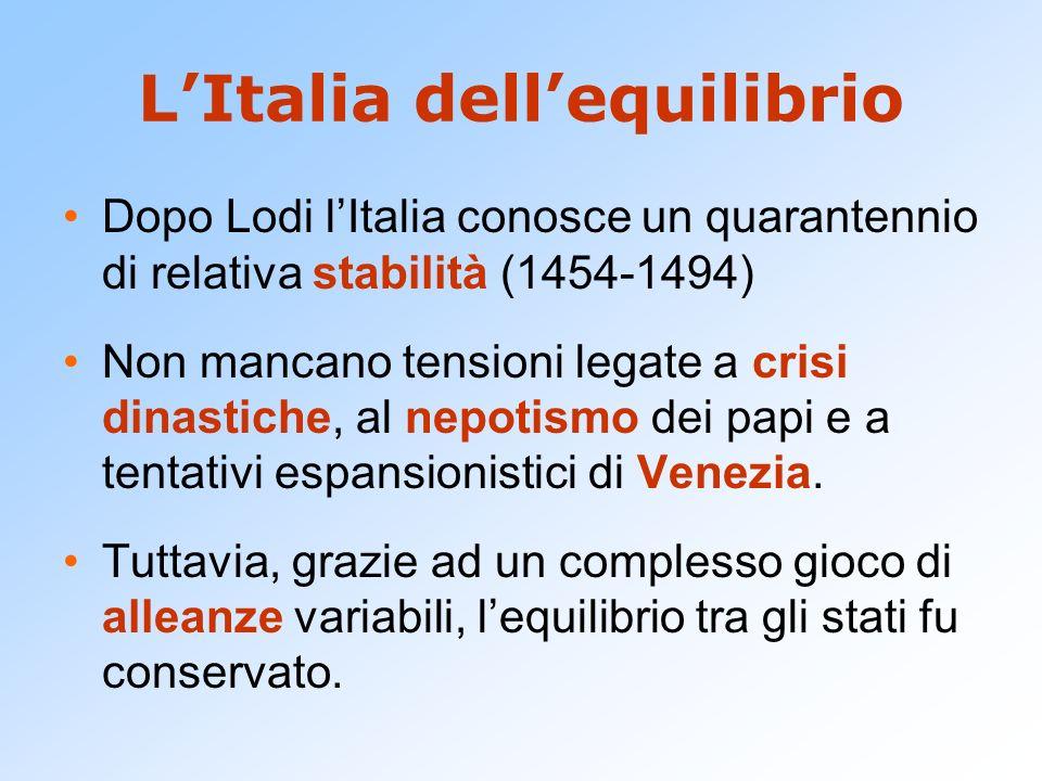 L'Italia dell'equilibrio