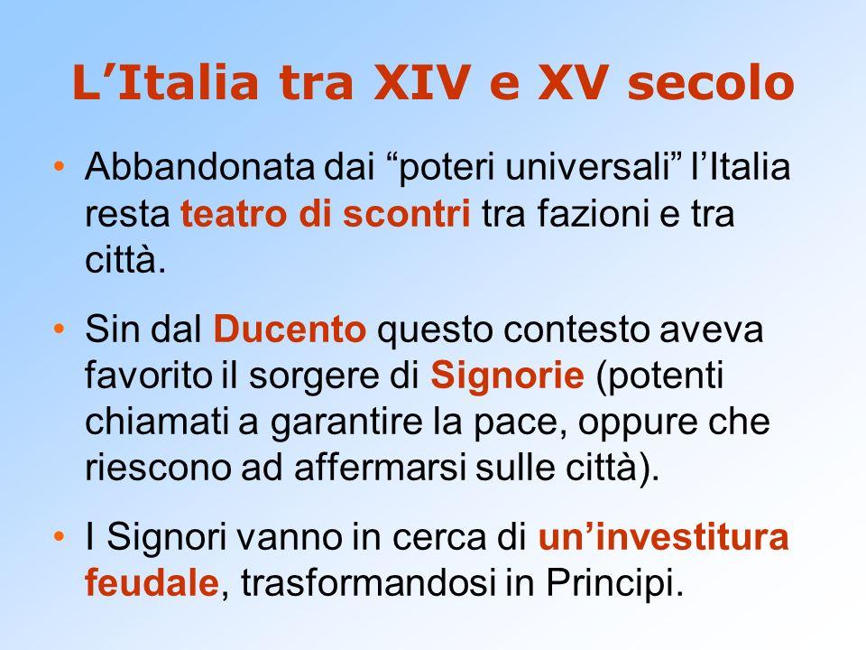 L'Italia tra XIV e XV secolo