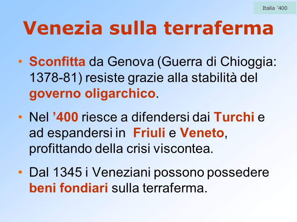 Venezia sulla terraferma