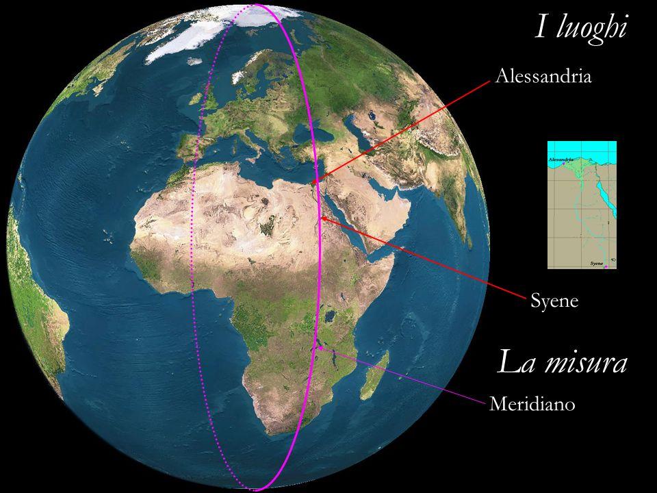 I luoghi Alessandria Syene La misura Meridiano