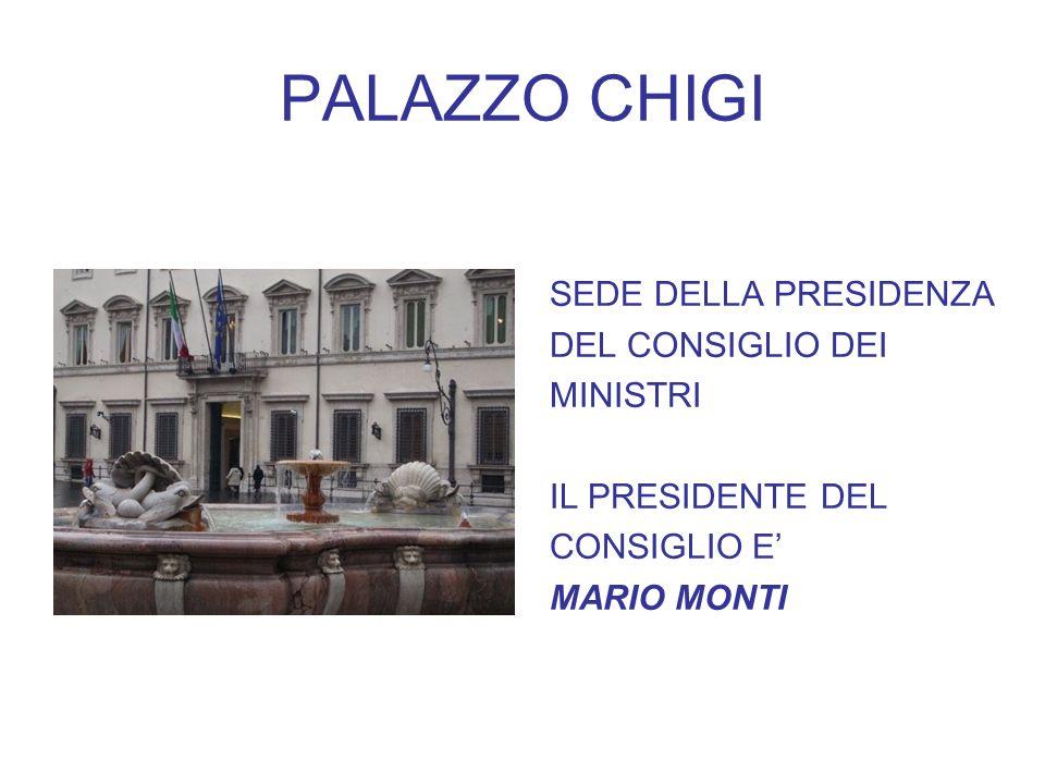 PALAZZO CHIGI SEDE DELLA PRESIDENZA DEL CONSIGLIO DEI MINISTRI