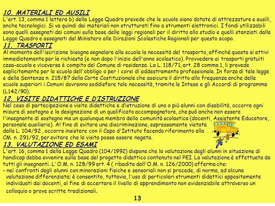 12. VISITE DIDATTICHE E D'ISTRUZIONE
