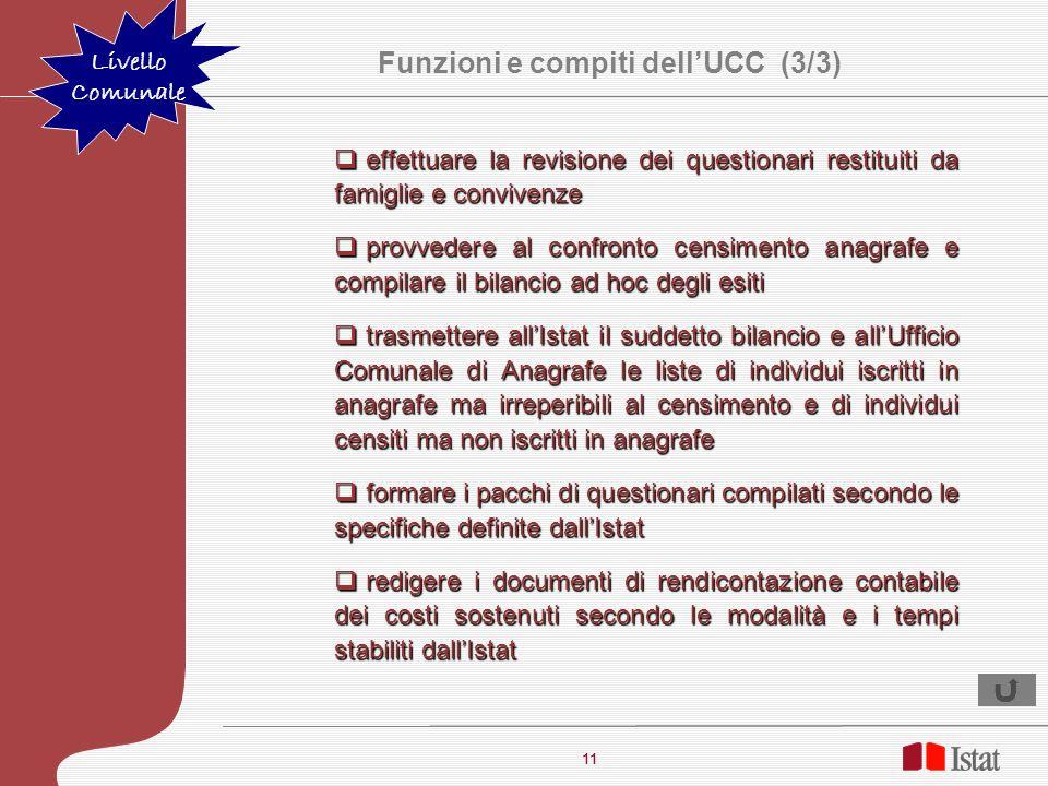 Funzioni e compiti dell'UCC (3/3)