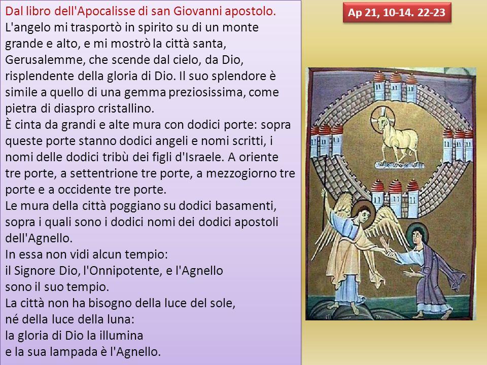 Dal libro dell Apocalisse di san Giovanni apostolo