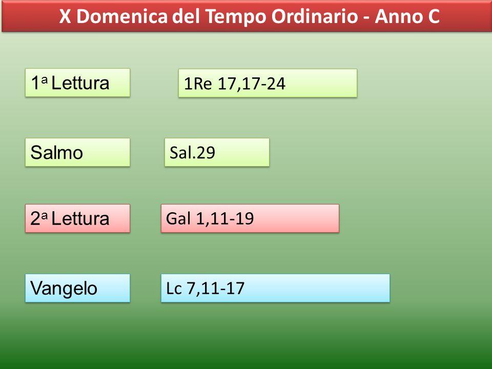 X Domenica del Tempo Ordinario - Anno C