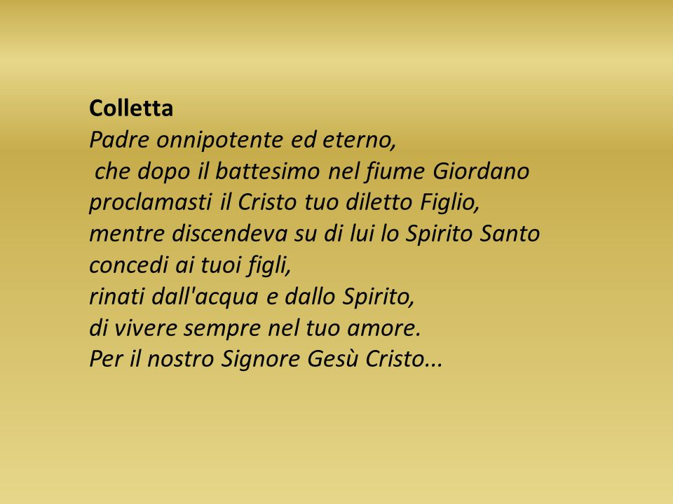 Colletta Padre onnipotente ed eterno,