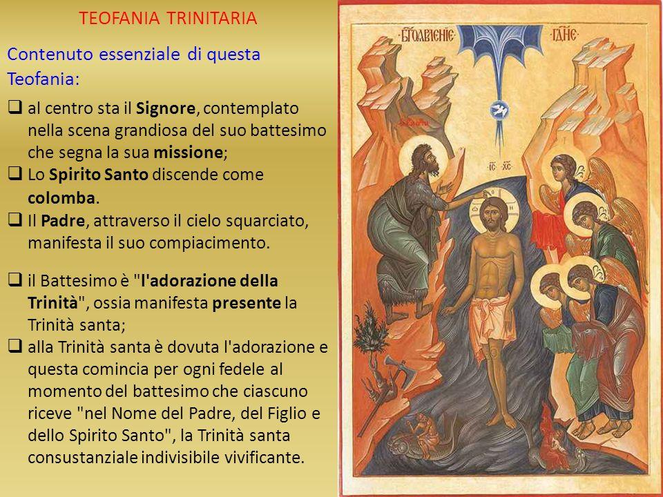 Contenuto essenziale di questa Teofania: