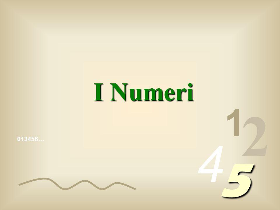 I Numeri 1 2 4 013456… 5