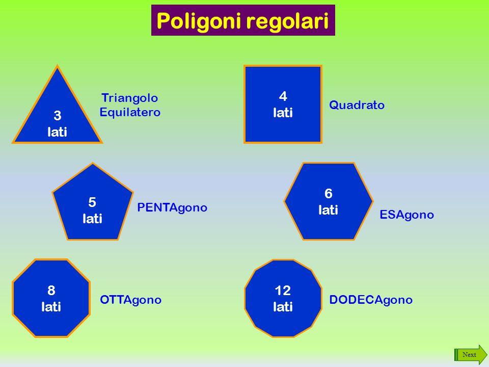 Poligoni regolari 3 lati 4 lati 5 lati 6 lati 8 lati 12 lati Triangolo