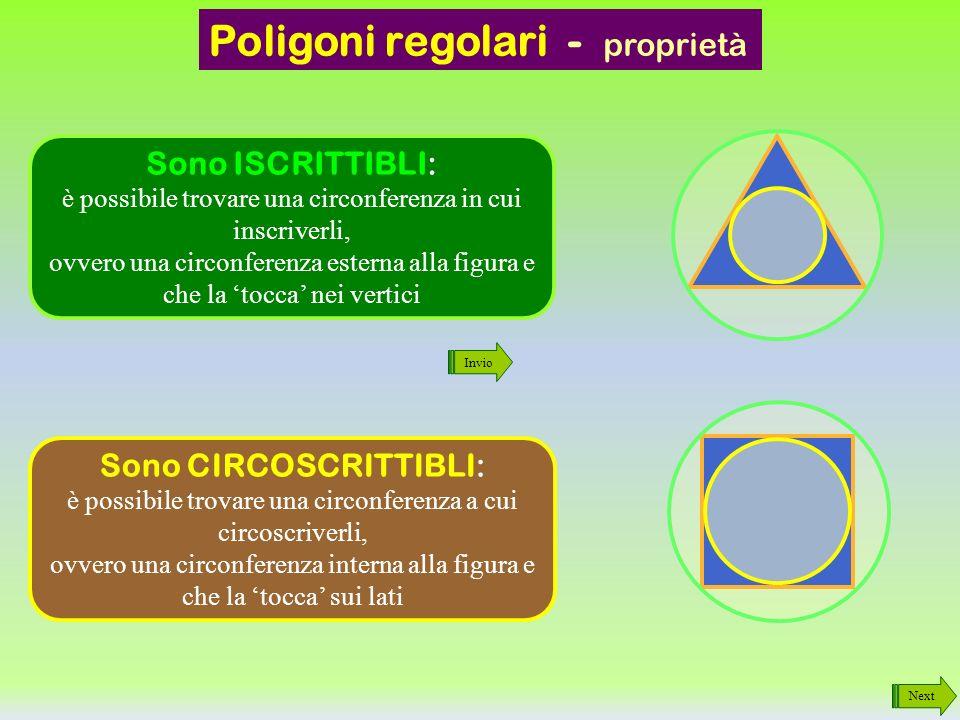 Poligoni regolari - proprietà