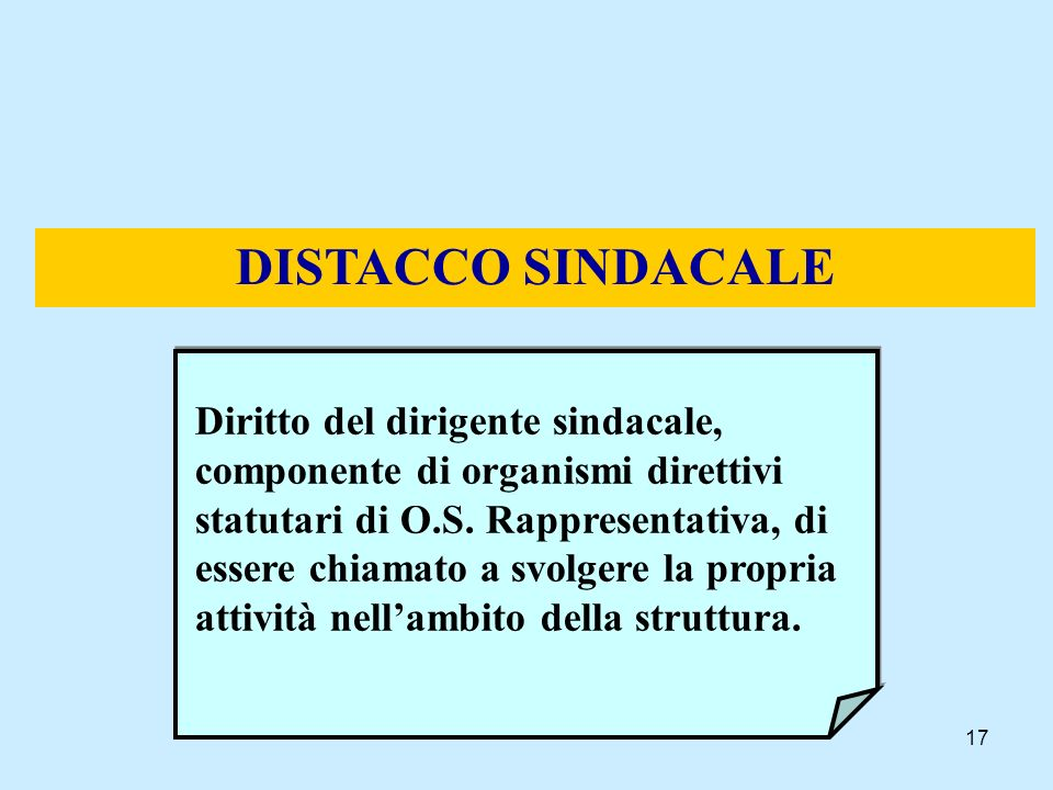 DISTACCO SINDACALE