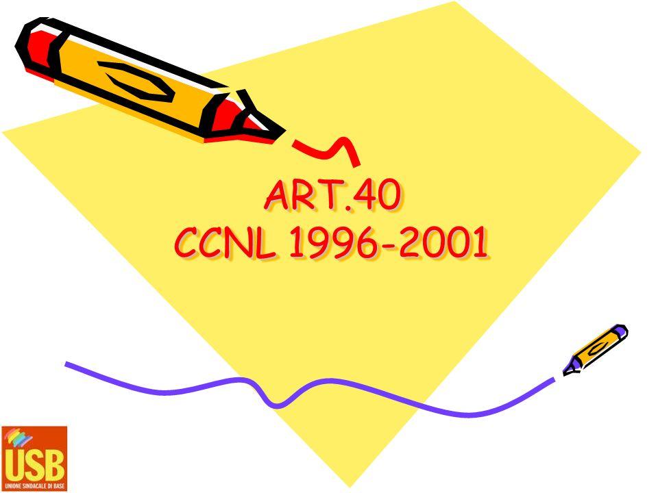ART.40 CCNL 1996-2001