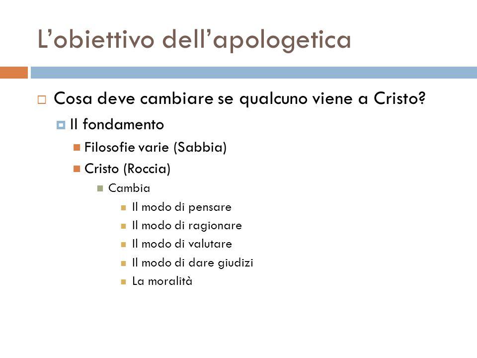L'obiettivo dell'apologetica