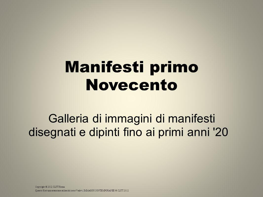Manifesti primo Novecento