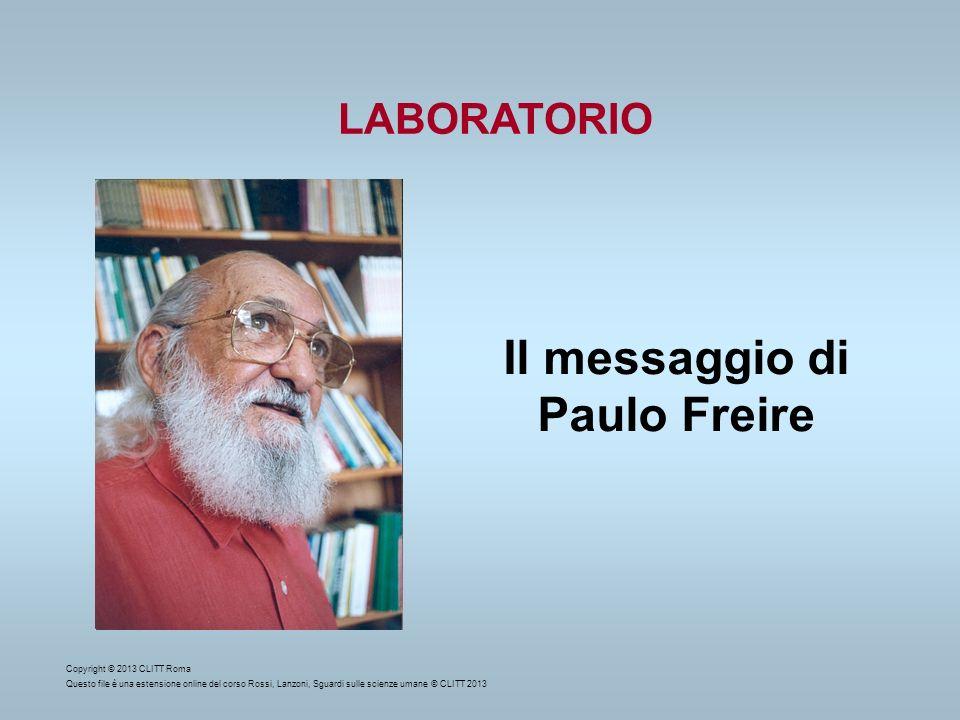 Il messaggio di Paulo Freire