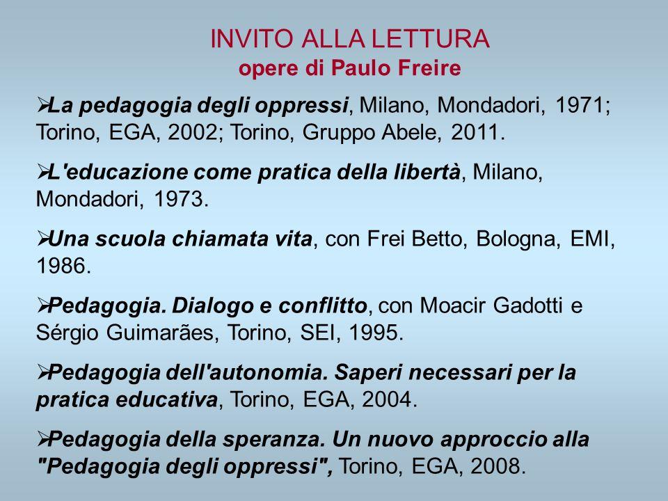 INVITO ALLA LETTURA opere di Paulo Freire