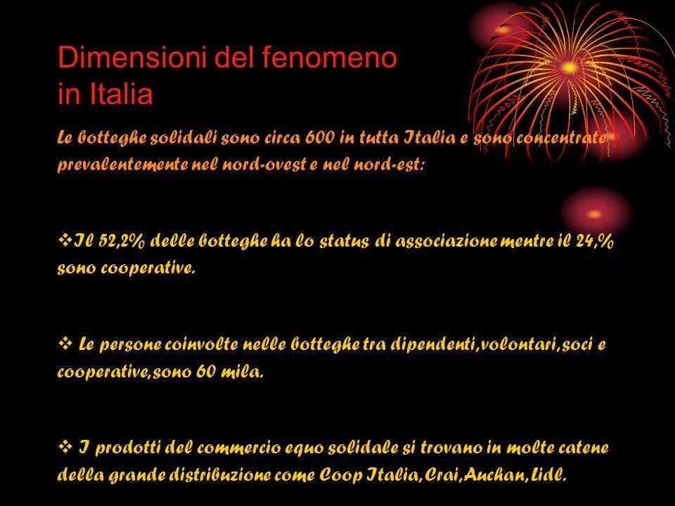 Dimensioni del fenomeno in Italia