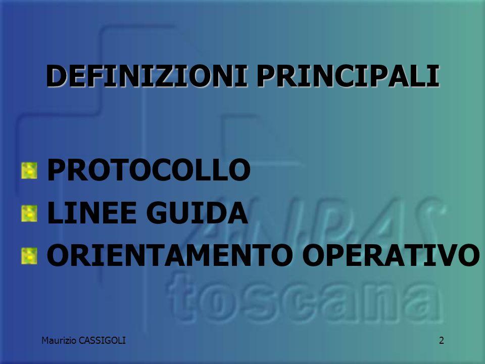DEFINIZIONI PRINCIPALI