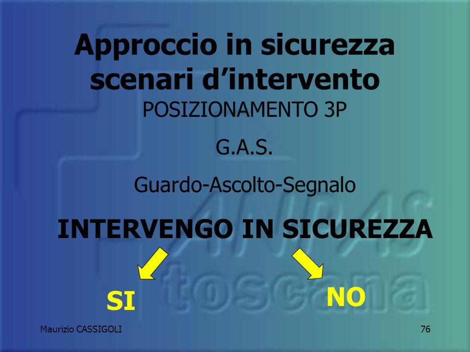 Approccio in sicurezza scenari d'intervento